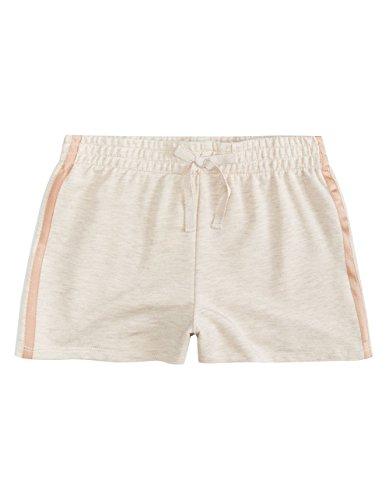 Full Tilt Satin Stripe Girls Athletic Shorts, Oatmeal, X-Small (Tilt Girls Shorts)