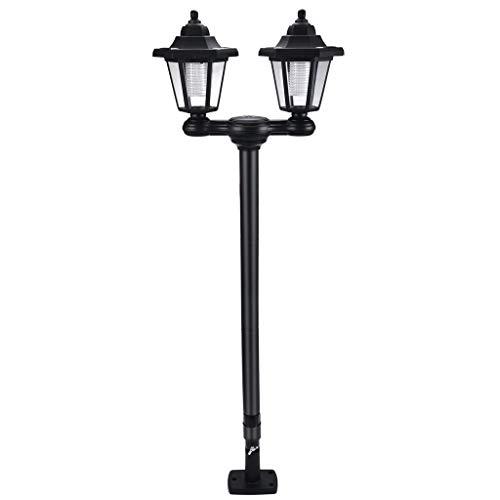 (️ Yu2d ❤️❤️ ️Waterproof Solar LED Torch Light Flame Wall Garden Yard Lamp Path Outdoor)