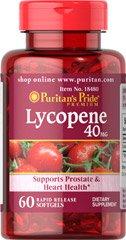 Lot de 2: Fierté lycopène 40MG 60 capsules de puritains (120 au total). Prise en charge de la prostate et la santé cardiovasculaire.