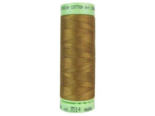 Mettler Fine Embroidery Thread - Mettler Silk-Finish Solid Cotton Thread, 220 yd/200m, Bronze Brown