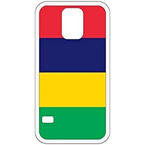 Mauritius Flag White Samsung Galaxy S5 Cell Phone Case - Cover