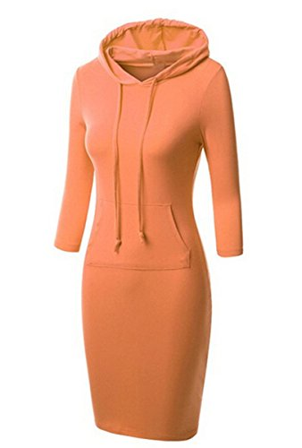 Banda De De L Oto Las Naranja De Capucha De Capa Color De Allonly o lido De S Color Mujeres ter Cobertura Su Vestido BnSHEXxg