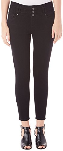 Blue Spice Juniors High Waist Solid Ankle Jeans 9 Black