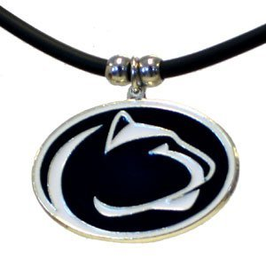 (Penn State Nittany Lions Rubber Cord Pendant Necklace College Basketball Fashion Jewelry)