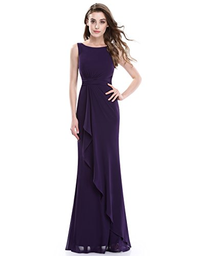 Ever Pretty Sleeveless Floor Length Ruched Waist Evening Dress 08796