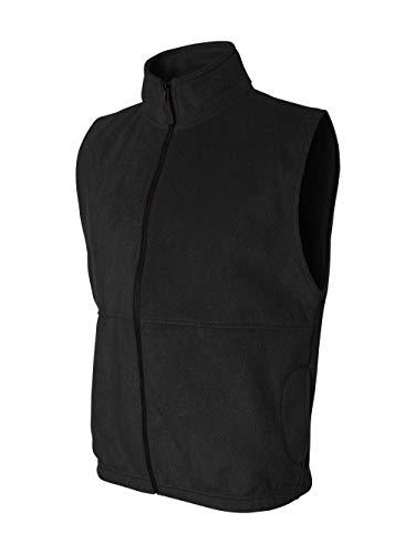 Sierra Pacific Adult Anti-Pill Fleece Full-Zip Vest (Black) (6X)