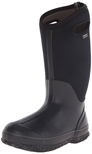 Bogs Women's Classic High Handle Wide Calf Waterproof Insulated Boot,Black,9 M US