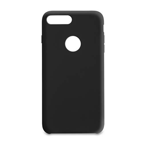 Capa Pong Apple Iphone 7 Plus Liquid Silicon com Furo, Customic, Capa Anti-Impacto, Preto