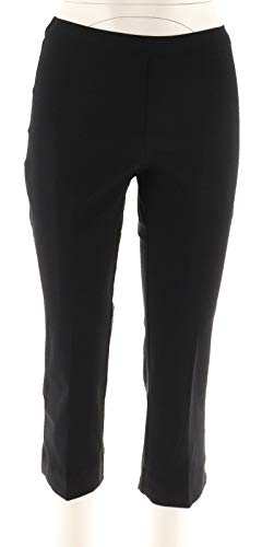 Isaac Mizrahi 24/7 Cozy Stretch Pull-On Cropped Pants Solid Black 16 New A251351 from Isaac Mizrahi Live!