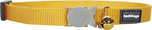 Red Dingo Classic Cat Collar - One Size Fits All - Yellow
