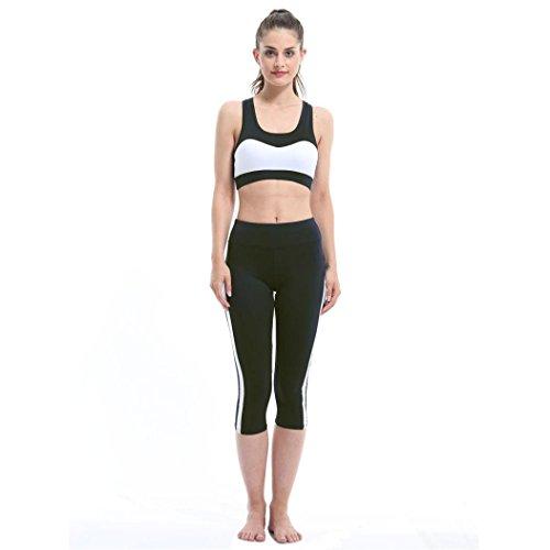 Clearance Sale! Women Pants WEUIE Fitness Sport Leggings Sexy Mesh Patchwork High Waist Slim Yoga Pants (26-34 Waist, Black) (Twill Smocked Dress)