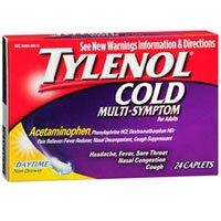 Tylenol Cold Multi-Symptom Caplets Daytime, 24 Caps (Pack of 3)