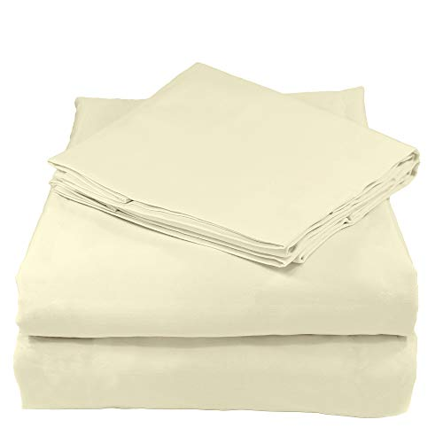 Whisper Organics 100% Organic Cotton Sheet Set, 200 Thread Count, Soft Percale - GOTS Certified (King, Natural)
