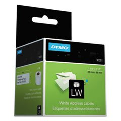 Dymo Lw Address Labels, Black On White, 1 1/8