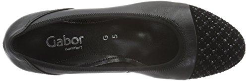 Gabor Shoes Comfort Sport, Bailarinas para Mujer Negro (Schwarz Schwarz)