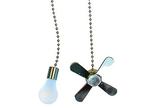 Ceiling Fan Pull Chain Set (Satin Nickel) - Elegance Ceiling Light