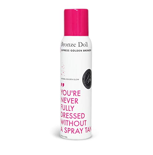 Bronze Doll Self-Tanning Spray (125ml/4oz) - INSTANT Results & Develops Darker Shades after 4-6 hours – For A Bronzed & Golden Tan – Made in Italy