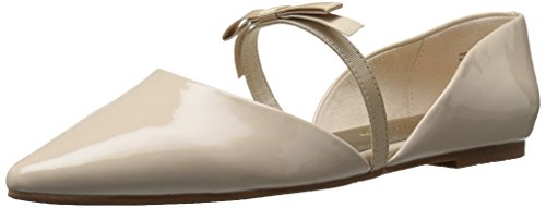 BC Footwear Women's Arc Pointed Toe Flat, Nude, 7.5 M US