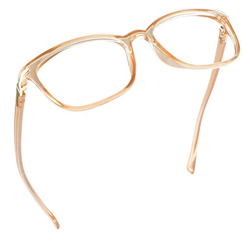 LifeArt Anti Fog Blue Light Blocking Glasses, Anti Eyestrain, Computer Reading Glasses for Women and Men, Anti Glare, Upgraded Anti Fog Lens (Champagne, No Magnification)