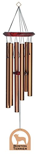 Chimesofyourlife E4399 Wind Chime, Boston Terrier/Bronze, 27-Inch For Sale