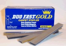 Duo-Fast 5418D 9/16-Inch by 20 Gauge 3/16 Crown Gold Staple (5,000 per Box) (Duofast Staple Gun)