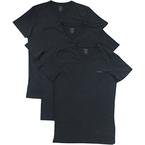 Diesel Men's Jake 3-Pack Essentials V-Neck T-Shirt, Black, (Diesel Black T-shirt)