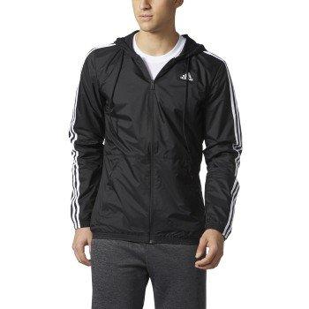 adidas Men's Big &Tall Essentials Wind Jacket Black/White XXXX-Large Tall by adidas