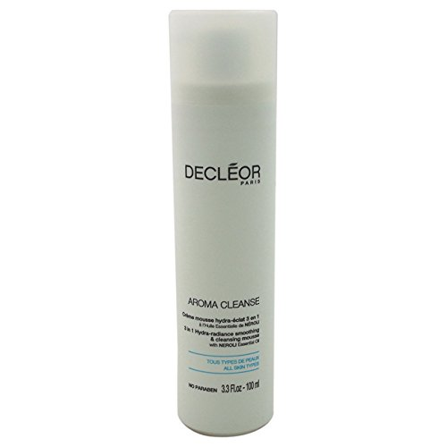 Decleor Aroma Cleanse 3 in 1 Hydra-Radiance Smoothing & Cleansing Mousse 100ml/3.3oz by Decleor