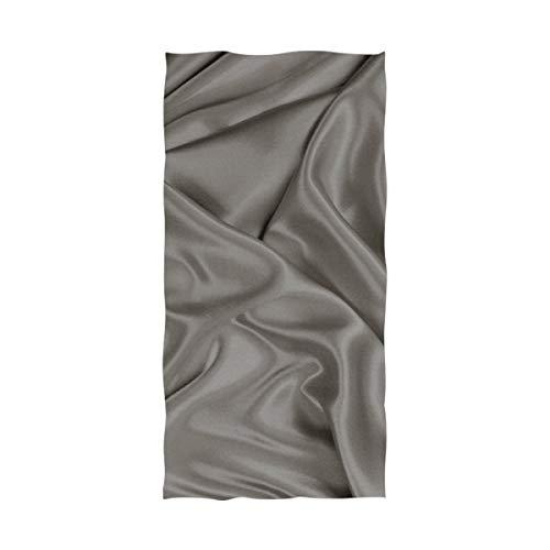RH Studio Bath Towel Satin Gray Silk Cloth Texture Soft Absorbent Spa Bench Bathroom Towels for Adults Kids(64x32inch)