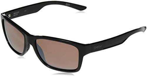 (Smith Wolcott Techlite Glass Sunglasses, Black, Polarchromic Copper Mirror Lens)