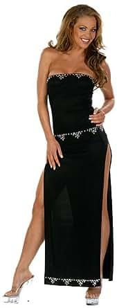 099b60ecc8c Amazon.com  Zaphon Strapless Dress with Rhinestone Detail  Clothing