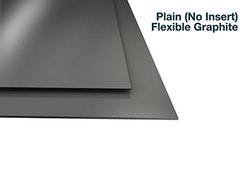Flexible Graphite with No Insert - 1/32'' Thick - 8.25'' x 9.5'' Sheet by Equalseal