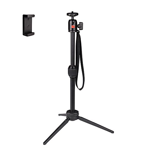 Mini Tripod-POLAM-FOTO 40cm Desktop Tripod with Phone Holder for Smartphone/DSLR Camera/Gopro by POLAM-FOTO