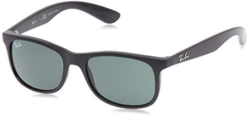 RAY-BAN JUNIOR RJ9062S Rectangular Kids Sunglasses, Matte Black/Dark Green, 48 mm (Baby Ban Sunglasses)