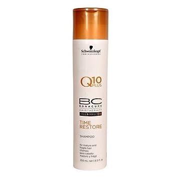 f09f45c440 Amazon.com : Schwarzkopf Professional Bonacure Q10 Plus Time Restore Shampoo  for Mature and Fragile Hair 8.5 fl oz : Beauty