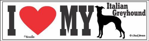 Italian Greyhound Bumper Sticker I Love My