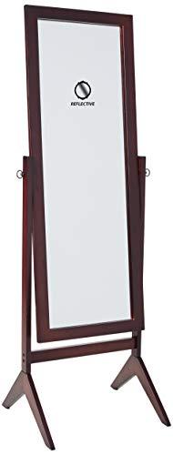 Crown Mark Espresso Finish Wooden Cheval Bedroom Floor Mirror (Large Mirrors Floor)