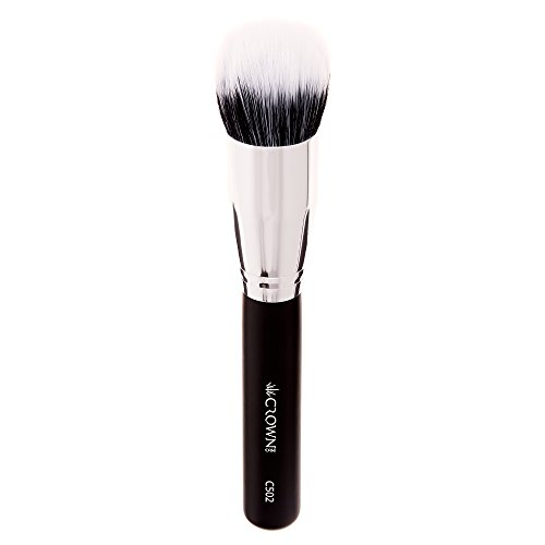 Crown PRO - C502 - Pro Duo Fiber Round Blender Brush - High Grade Synthetic and Sable (Pro Sable Makeup Brush)
