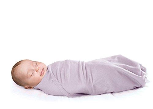 - Woolino Newborn Swaddle Blanket, 100% Superfine Merino Wool, for Babies 0-3 Months, Lilac
