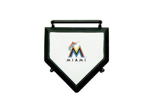 MLB Miami Marlins Home Plate 4-pack Coaster Set