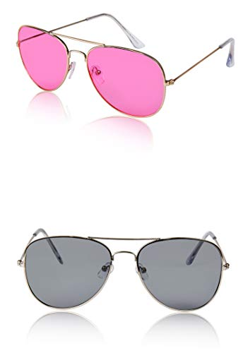 70s 70's Sunglasses For Women Women's Costume Glasses Big Small 2 Pink Grey -
