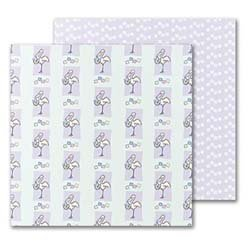UPC 601952402340, Masterpiece Stork & Baby 2-Sided Scrapbook Paper - 12 x 12 - 50 Sheets