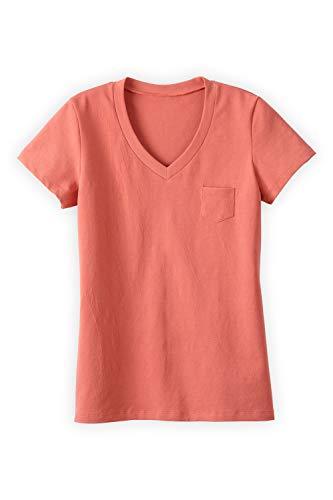 Fair Trade Fashion (Fair Indigo Fair Trade Organic Relaxed Pocket V-Neck Tee (M, Desert Flower))