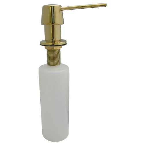 (Simpatico 30321P Soap Or Lotion Dispenser With Heavy Duty And Deluxe Model, Polished Brass)