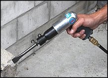 POW AIR0019 Druckluft-Hammer-Mei/ßel im Koffer