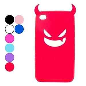 compra Devil protectora del gel de silicona para el iPod Touch 4 (varios colores) , Rojo