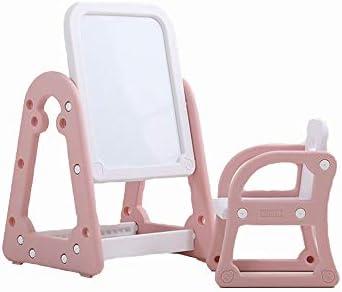 おもちゃイーゼル イーゼル子供の落書きボードとスツールとストレージ豪華なスタンドアップ磁気英数字でイーゼル 能力と趣味の構築 (色 : ピンク, Size : 50x52x90cm)