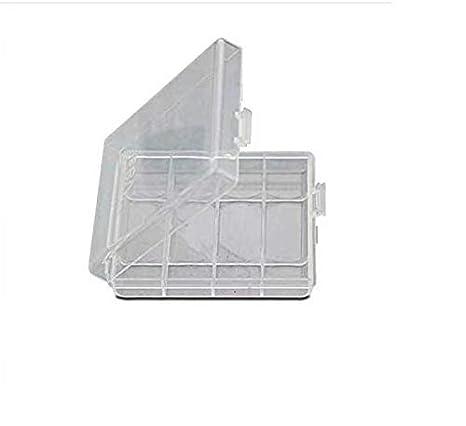 Waymeduo 4X Caja Plástico Estuches pa AA/AAA Batería Pila Nueva