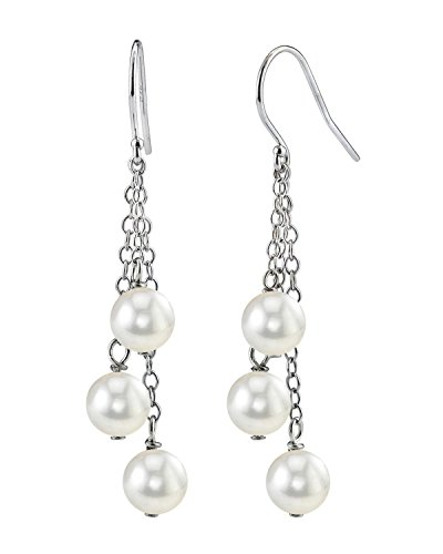 14K Gold 7mm White Freshwater Cultured Pearl Cluster (Gold Freshwater Pearl Cluster)