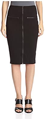 Romeo & Juliet Couture Women's Mid Knit Skirt with Front Zipper